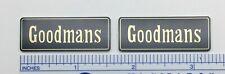 Goodmans Speakers Badge Logo Pair Custom Gold Lettering