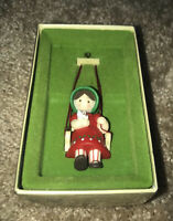 1979 Hallmark Tree-Trimmer Collection Christmas is for Children Girl Swing Kitty