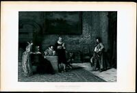 The Letter of Introduction Arture Ricci 1880's photogravure print