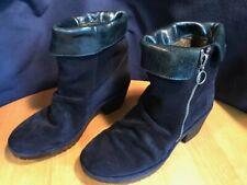FLY London Wati Suede Ankle Boots EU 38 Navy Women's US 7 - 7.5 M