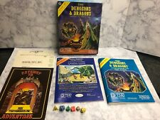 TSR D&D Dungeons and Dragons EXPERT Set  #1012 1980 with Dice