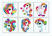 12 Unicorn Temporary Tattoos Kid Princess Party Goody Loot Bag Favor Supply