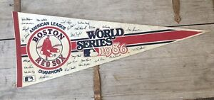 Vintage Boston Red Sox Pennant. 1986 World Series Full-size