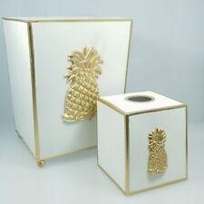 Jayess Studio Regency Pineapple Wastebasket And Tissue Box Set