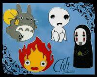 Studio Ghibli metal & enamel pins / pin badges Totoro, Calcifer, Kodama, No Face