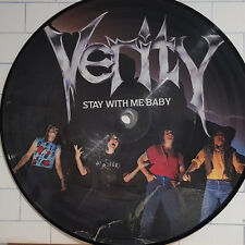"""Verity – Stay With Me Baby - 7"""" Single Picture Disc - LBD 1 UK 1983 Heavy Metal"""