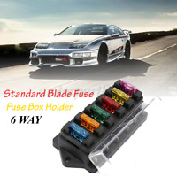 6 Way Blade Fuse Auto Block Box Holder Indicator ATC ATO Circuit For Car Boat