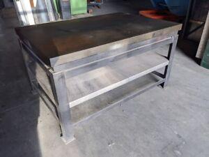 Massiver Stahltisch Werktisch Schweißtisch Richttisch Werkbank 100x150cm 450KG.