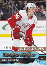 2016-17 UD UPPER DECK YOUNG GUNS EXCLUSIVES ROOKIE TYLER BERTUZZI 35/100 RC #471
