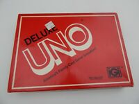 UNO DELUXE EDITION Vintage 1978 Card Game Complete Box Instructions Score Pad