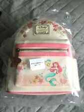 More details for disney loungefly the little mermaid floral mini backpack