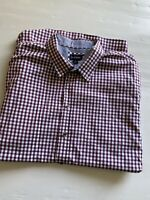 GAZMAN MEN'S LONG SLEEVE SHIRT BUTTON UP - SIZE 4XL - CHECKED. As new.