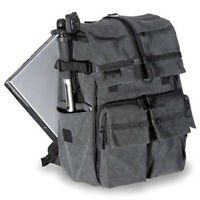 New Large Canvas Camera Backpack Insert Travel Shoulder Bag Rucksack For DSLR