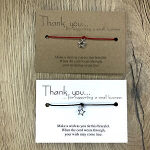 Wholesale * Bulk *Thank you for supporting business* Make A Wish Bracelet * Gift