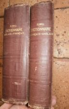 DICTIONNAIRE ANGLAIS FRANCAIS ALFRED ELWALL EDITION 1893 DELAGRAVE 2 VOLUMES