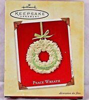 Hallmark Keepsake Ornament  Peace Wreath 2003