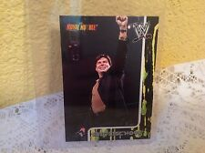 WWE ERIC BISCHOFF ROYAL RUMBLE 2002 FLEER COLLECTOR TRADING CARD #59 & HOLDER