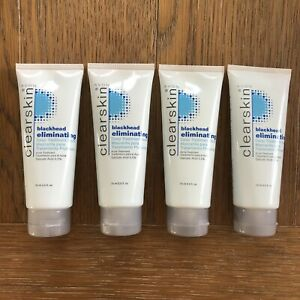 4 NEW SEALED AVON CLEARSKIN BLACKHEAD ELIMINATING TREATMENT MASK 2.5 FL OZ. Each
