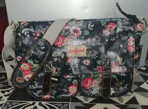 Cath Kidston Blue Floral Satchel Bag Good Condition