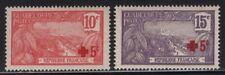 Guadeloupe 1915 Red Cross Overprint set Sc# B1-2 NH