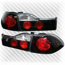 For 2001-2002 Honda Accord 4 Door Sedan Black Tail Lights Rear Brake Lamp Pair