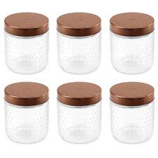 6pcs 500 ml hermétique Baroque Storage Candy Pots Récipient en verre en relief s...