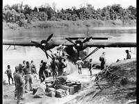 WW2 WWII Photo PBY Catalina Supplies Coast Watcher New Guinea World War Two 7212