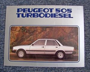 ORIG. 1981 PEUGEOT 505 TURBODIESEL OLD-OUT AUTO BROCHURE