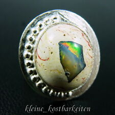 Ring * 925er Sterlingsilber * Mexikanischer Feueropal in Rhyolit-Matrix * RG 54