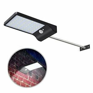 Solar Gutter Lights Wall Sconces with Mounting Pole, 36 LED Outdoor Solar Motion