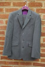 Men's Next Grey Wool Two Piece Tailored Fit Suit 36S 30x30