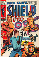 Nick Fury Agent Of SHIELD #12 - Cool Psychodelic Cover - (Grade 7.5) 1969