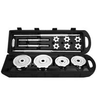 Totall 110LB Weight Steel Dumbbell Set Adjustable Gym Barbell Plates Body Workou
