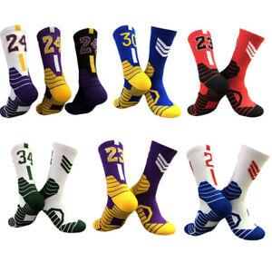 Kobe James Basketball Sports Owen Harden Stretch Mens Combed Cotton Socks Unisex