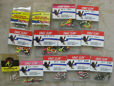 160 Eagle Claw Apex Luck E Strike Painted Round Jig Heads 1/32 1/16 1/8 Oz