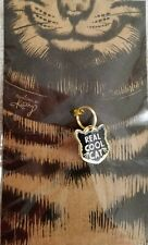 "Pet Collar Charm: Primitives by Kathy Metal & Enamel Charm - ""Real Cool Cat"""