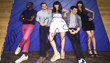 New Girl Cast x4 Hand Signed 11x14 Autographed Photo W/COA Zooey Deschanel