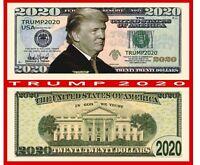 Fun Gift  G4 MONEY 10 Re-Elect President  Donald Trump 2020 Dollar Bills FAKE