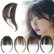 Clip-in on Bangs Fringe Hair Extension Straight Front Neat Hair Bangs For Women