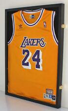 LOCKABLE UV Football Baseball Basketball Jersey Display Case Frame JC34L-BLA