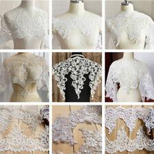 Lace Motif Applique Trim Wedding Bridal Embroidered Ribbon Sewing Craft DIY Edge
