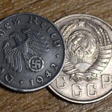 WORLD WAR 2 Fascism vs Comunism . Reichspfennig & Kopek coins