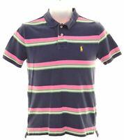 POLO RALPH LAUREN Boys Polo Shirt 14-15 Years Large Multicoloured Striped  EO05
