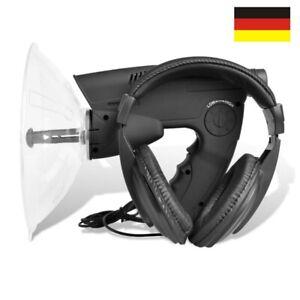 Parabol-Richtmikrofon Zieloptik 12Sek. Aufnahme Geräuschverstärker Abhörgerät DE