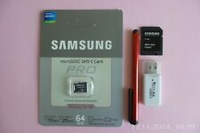 Samsung micro SDXC UHS-1 PRO 64GB Card with extras