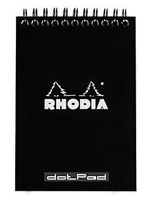 Rhodia Wirebound Notebook 6 x 8 Dot Pad Black