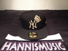 """RARE BANNED New Era New York Yankees Fitted Hat """"CROWN"""" Size 7 3/8 king of nyc 1"""