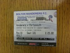 17/01/2004 Ticket: Bolton Wanderers v Portsmouth  . Thanks for viewing this item