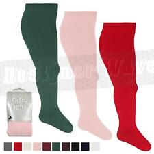 Girl Tights Nifty Rich Plain Kids Baby White Black Pink Newborn - 13 Years All
