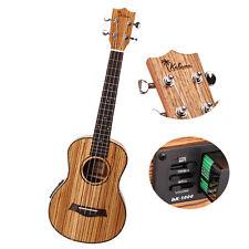 26 Inch UKTE-ZB Zebra Wood Ukulele 4 Strings with Pickup
